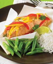 thai fish en papillote